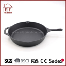 Skillet Pre-seasoned cast iron skillet/ fry pan 12''