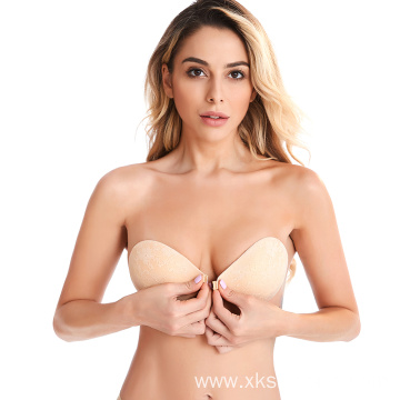 Magic invisible nylon mature hot sexy lace bra
