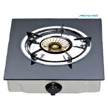 Single Burner Gas Stove With Tempered Glass