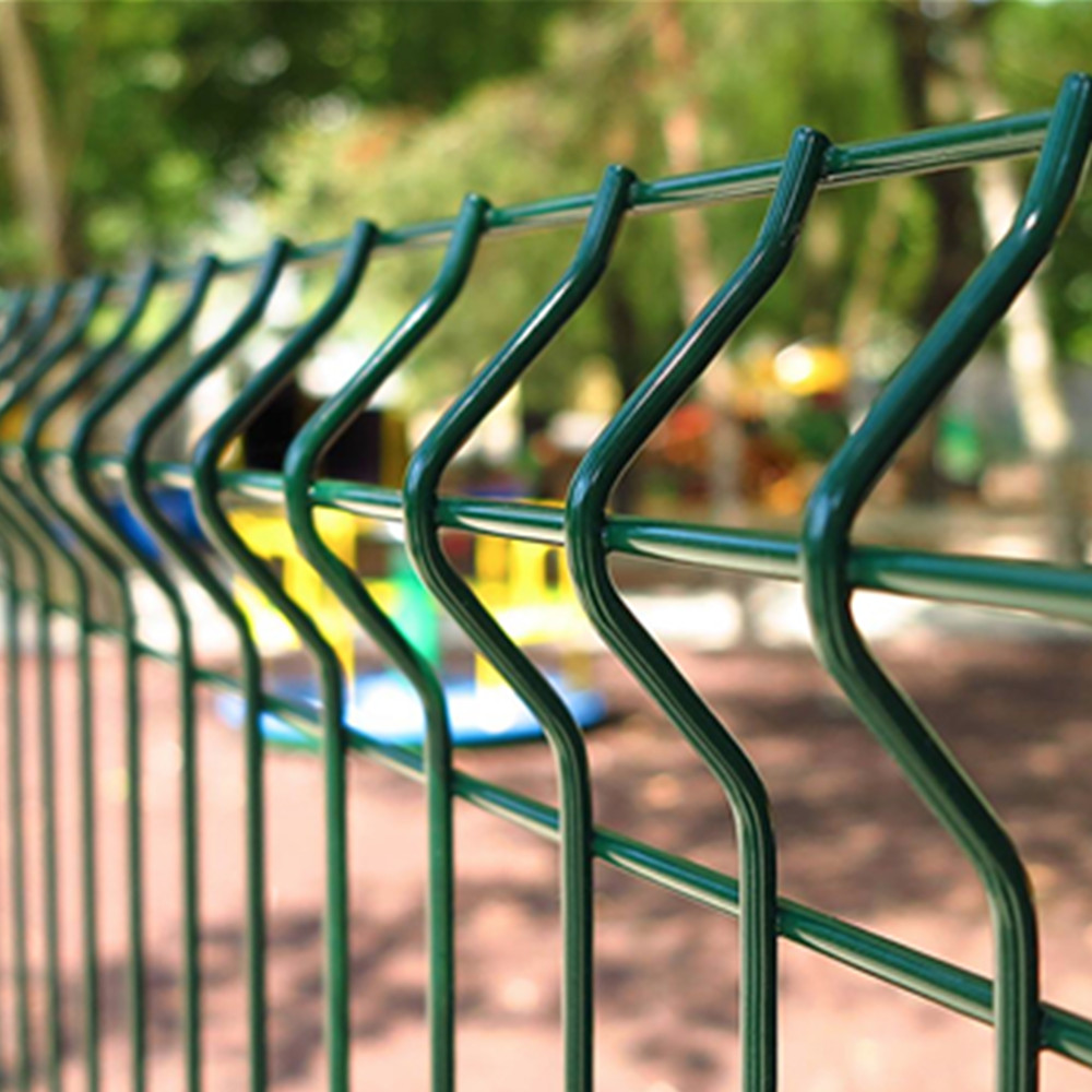Welded 3D Security Fence With Peach shape Post
