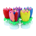 happy birthday flowering music birthday candle