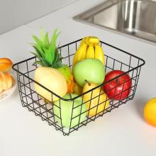 New Iron Art Storage Basket Home Desktop Metal Sundries Organizer Container Large Toy Fruit Laundry Baskets For Home Accessaries