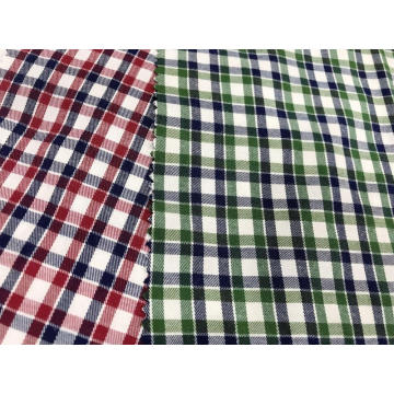 T/C(48%Cotton52%Polyester)Twill Yarn-dyed Plaid Fabric