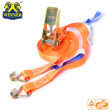 High Strength Polyester Cargo Lashing Ratchet Tie Down Strap