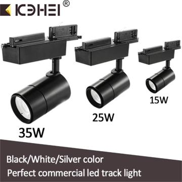 Black LED Track Lights 15W 25W 35W Dimmable