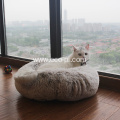 Long Plush Velvet Round Kennel Doughnuts Pet Bed