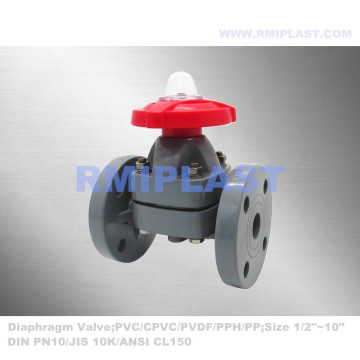 Chemical Industrial Diaphragm Valve Plastic