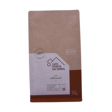 Qualities product biodegradable kraft paper bag coffee bag