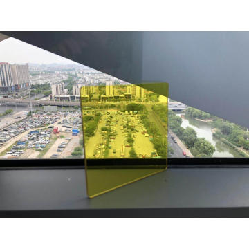 Light yellow solid polycarbonate sheet advertising board