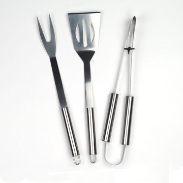 3pcs heavy duty stainless steel BBQ set