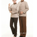 Food Service Restaurant Hotel Worker Overalls long Sleeve Kitchen Waiter Uniforms