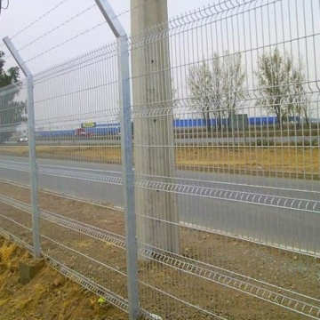 PVC coated 3d fence/curvy welded fence