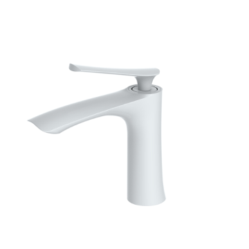 Hot sell small brass modern basin faucet white