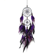 55 Cm Wind Chimes Handmade Dream Catcher Net With Feathers Wall Hanging Dreamcatcher Craft Gift Christmas Decoration For Home