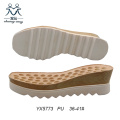Square Toe Wedge Heel Women Sandals Outsole