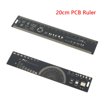 20CM PCB Ruler For Electronic Engineers For Geeks Makers For Arduino Fans PCB Reference Ruler PCB Packaging Units Starters Tool