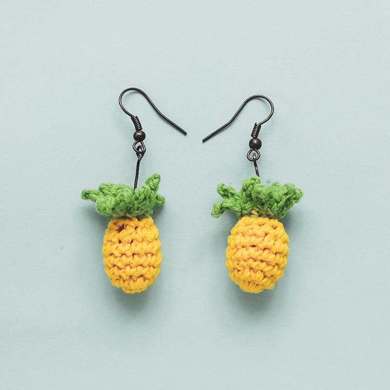 Knitting Crochet Earring