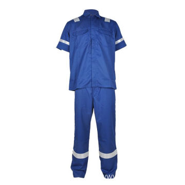 fire retardant cotton work coveralls short sleeve