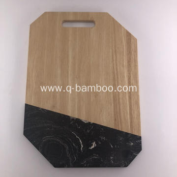 Wood and marble serving board