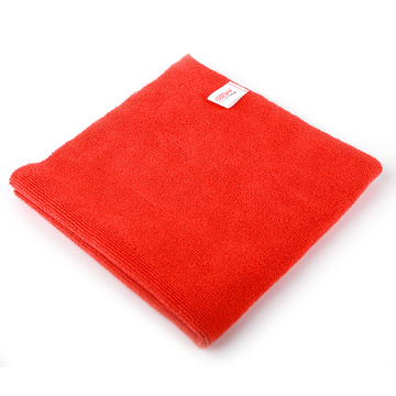 16x16In Edgeless Microfiber Car Cleaning Drying Towel Red