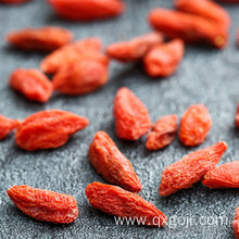Organic red goji berry orange fruit nutrition