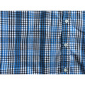 Two Chest Pocket Shirt Bule Color Plaid