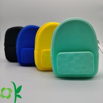 Mini Silicone Backpack Shaped Coin Purse