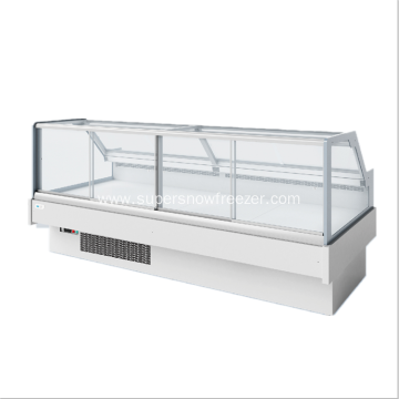 Remote type sliding glass door meat showcase refrigerator