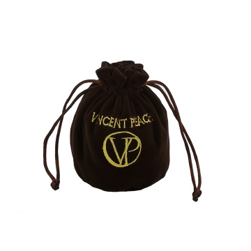 Velvet gift bag jewelry pouch