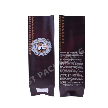 custom logo Matte Foil Side Gusset Pouch With Valve for food/coffee/ tea bag