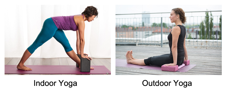 Camouflage Yoga Block Product Application
