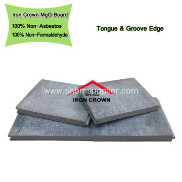 Anti-Sink Fireproof No-formaldehyde 6mm MgO Ceiling Board