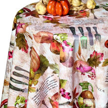 Pvc Printed fitted table covers Porthault Table Linens