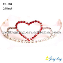 Wholesale Pink Crystal Heart Tiaras