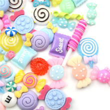 10Pcs Lollipop Candy Dollhouse Food Kitchen Toys Dolls Miniature Pretend Toy Phone Case Decor