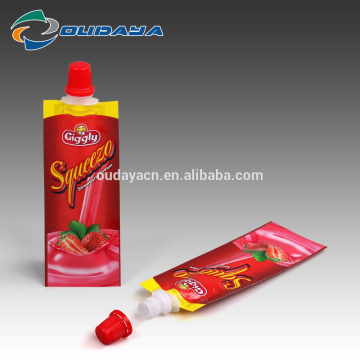 Package 8.2mm Spout Liquid Strawberry Cream Packaging Pouch