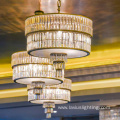 Restaurant lobby customized project crystal chandelier light