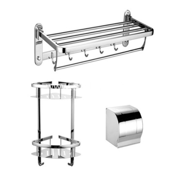304 Stainless Steel Toilet Folding Towel Rack Sets