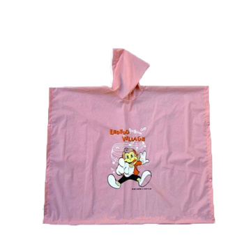 Children pink rain poncho with for girls