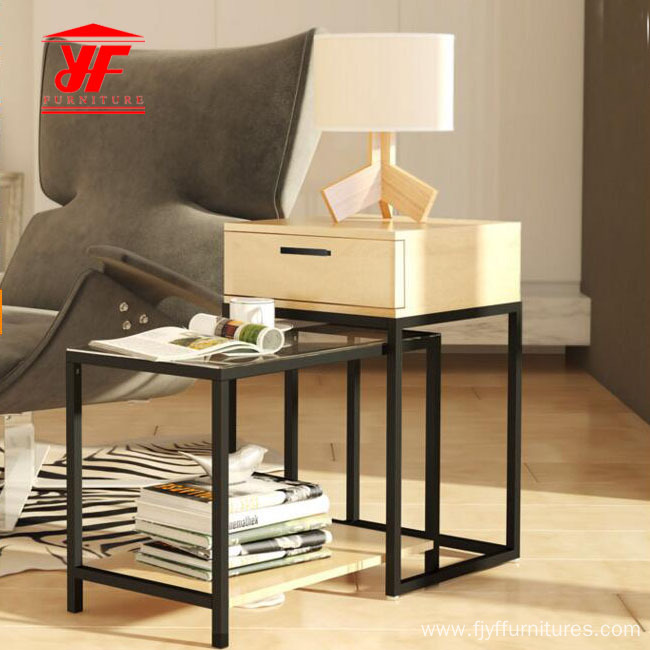 Acrylic Coffee Table with End Tables with Stools