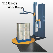Rotary arm wrapping machine for drink