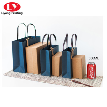 Colorful shopping gift paper bag with custom logo