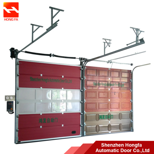 Customized Galvanized Remote  Sliding Sectional Door