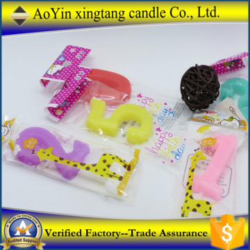 Numerical Candles Birthday Party Cake Candles