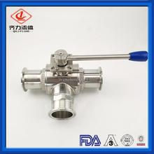 Hygienic 3 Way Tee Type Ball Valves