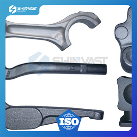 Accurate steel forged part