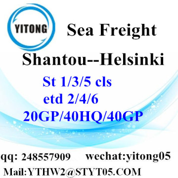 Shantou Sea Freight shipping agent to Helsinki