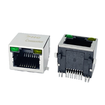 RJ45 CONNECTORS  W/LED PRODUCT SHIELDED SMT