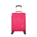 Pink PU Luggage Wheeled trolley bags