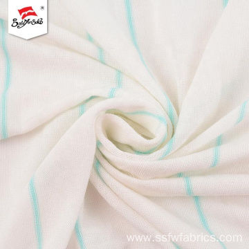 Custom Breathable Comfortable Soft Stripe Ladies Fabric